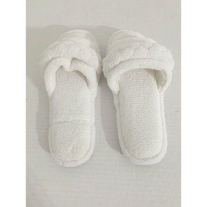 NEW Charter Club AWhite Slippers Small 5-6